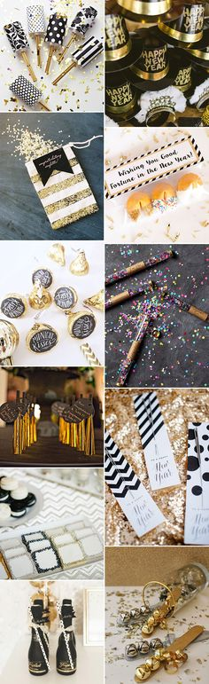 Celebrate with these fabulous festive New Year's Eve Wedding Favors ideas | See them all on www.onefabday.com