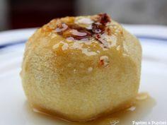 Pommes au four au miel et aux noisettes