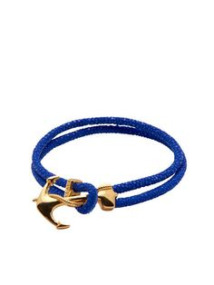 Blue Stingray With Gold Anchor
