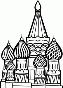 how to draw the kremlin, moscow kremlin, saint basil cathedral step 14