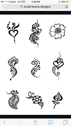 Cute Henna Designs, Beginner Henna Designs, Henna Tattoo Designs, Small Tattoo Designs, Mehndi Designs, Henna Tattoo Hand, Henna Mehndi, Henna Heart, Henna Pictures