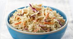 A favorite coleslaw with just the right amount of seasoning!