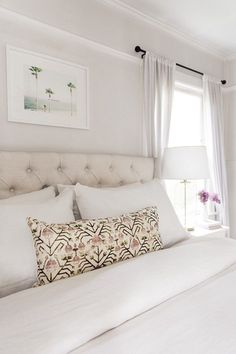 Budget Ideas for Decorating a Large Master Bedroom Wall Dream Bedroom, Home Bedroom, Bedroom Wall, Master Bedroom, Bedroom Decor, Wall Decor, Master Suite, Bedroom Lamps, Coastal Bedrooms