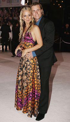 Bec Cartwright and Lleyton Hewitt at the Logies in May 2005. #Australia #celebrities #LleytonHewitt Australian celebrity Lleyton Hewitt loves http://www.kangabulletin.com
