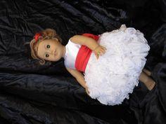 White Flower Girl AG Doll Dress by HauteDesignsByNorine on Etsy