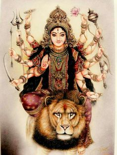 Maha Durga: the Eternal angelic pleasure of fighting off the demons...for the duration of Infinity