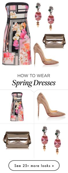 """Spring Pink"" by leti-barnes on Polyvore featuring Mawi, Christian Louboutin and Marni"