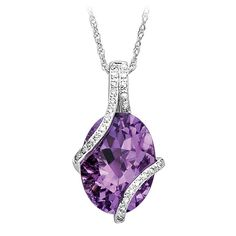 Littman Jewelers   Amethyst and Diamond Fashion Pendant