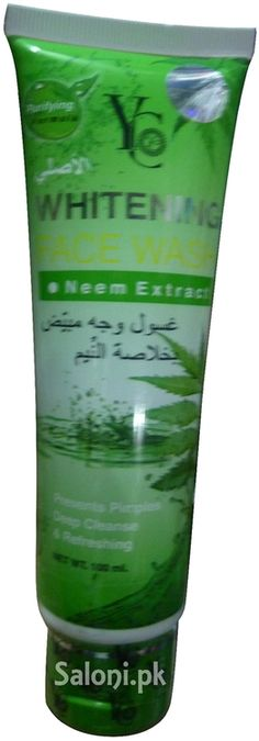 Whitening neem face wash contains purifying herbal formula that gently cleanses deeply and prevents pimples. It works as an intense detoxifying cleanser that helps removing oils, keep refreshing and wash away excess oil that can cause acne and blemishes.