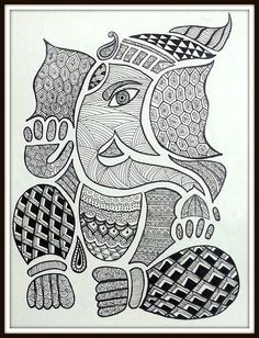 Black and white pineapple doodle zentangle art Doodle Art Drawing, Mandalas Drawing, Zentangle Drawings, Doodling Art, Mandala Ganesh, Ganesha Art, Ganesha Sketch, Ganesha Drawing, Mandala Art Lesson