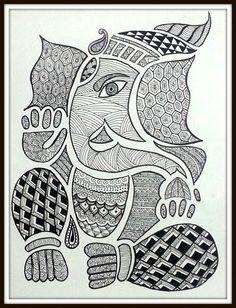 Lord Ganesha - Zentangle