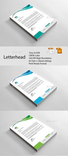Business letterhead designs custom company letterheads usa letterhead template vector eps ai illustrator spiritdancerdesigns Gallery