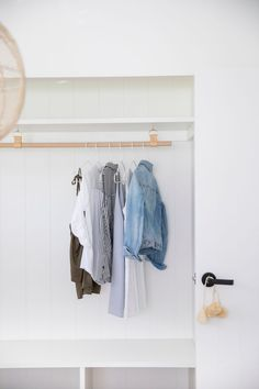 H&G Designs Leather Hanging Rail, Cabinet Undermount - Nude/Oak – norsu interiors Wardrobe Rail, Ceiling Hooks, Laundry Storage, Laundry Area, Laundry Room, Clothes Rail, Hanging Rail, Tidy Up, Storage Solutions