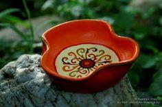 creative energy sun mandala little plate - hand painted clay pots