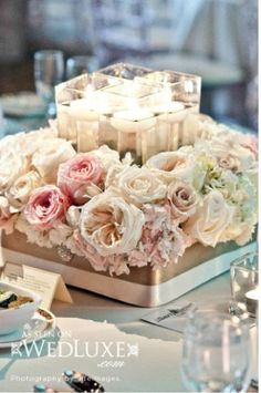 Flower Centerpiece with Candles!