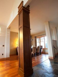 moulding on columns building a house pinterest the floor ceiling trim and martin omalley - Homes Interior Design