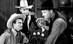 John Wayne, Ray Corrigan and Max Terhune as the Three Mesquiteers