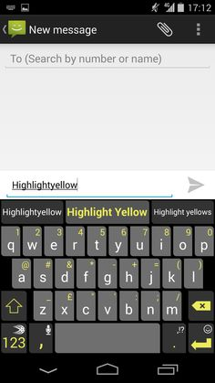 56d96c618dc Highlight Yellow theme on SwiftKey Keyboard for Android. Computer Keyboard,  Highlight, Store,
