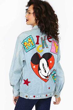 Hey Mickey Mouse Denim Jacket