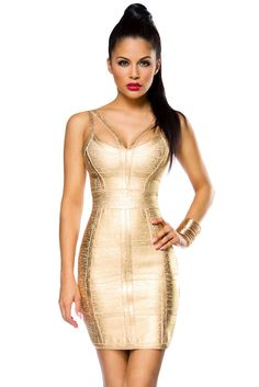 Shapedress 14023 - www. Bodycon Dress, Bandage Dresses, Metallic Look, Well Dressed, Short Dresses, Queen, Luxury, Shopping, Body Con Dress