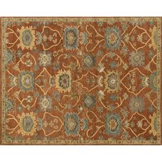 Underwood Rust And Gold Rectangular: 3 Ft 6 In X 5 Ft 6 In Rug Area Rugs Rugs Home Decor