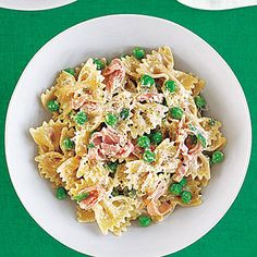 pasta with peas, ham, and parmesan -- site has 14 slimming pizza and ...