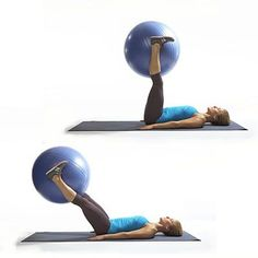 Rear Raiser: Works: Butt, Lower Back, Abs, Hamstrings Start in a plank with forearms on ball, hands clasped. Slowly lift right leg as high as you can (as shown). Lower leg, then repeat on opposite side for 1 rep. Do 12 reps. Source: Larsen & Talbert 683 78 6 Kat Phillips I workout. InStyle-Decor Hollywood girls in Hollywood love it
