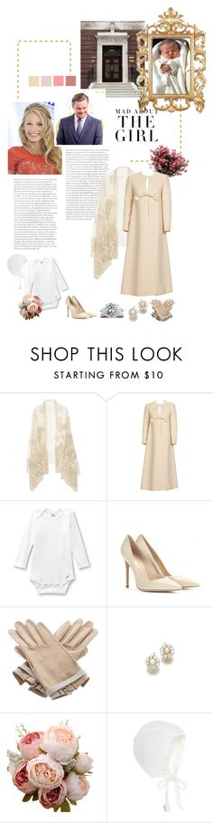 """""""(Read!) Leaving The Lindo Wing And Greeting The Press"""" by eleanorofwales ❤ liked on Polyvore featuring Valentino, Pierre Cardin, Gerber, Gianvito Rossi, Hermès and Kershaw"""