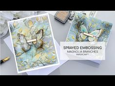 Oxide Sprayed Embossing Technique [ Magnolia Branches Embossing folder by Simon Says Stamp] - YouTube Magnolia Branch, Embossing Techniques, Card Making Techniques, Distress Oxides, Simon Says Stamp, Embossing Folder, Make Your Own Card, Step Cards, Card Tutorials