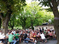 SEO Stammtisch Darmstadt, Public Viewing im Biergarten Darmstadt, Deutschland - Frankreich 1:0 (WM 2014, Viertelfinale)