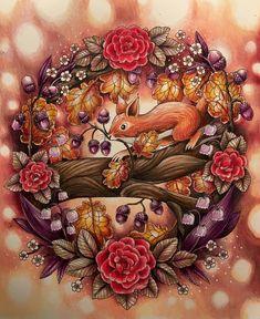 "487 Likes, 52 Comments - Petra Gescheidtova (@colourful_peeta) on Instagram: ""#mariatrolle #blomstermandala #coloringforadults #prismacolor #blomstermandalamålarbok #autumn…"""
