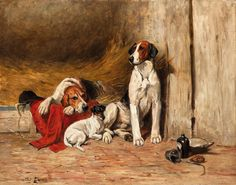 In the Kennel by John Emms   Art Posters