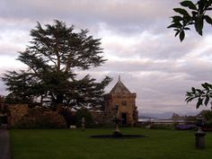 From the gardens at Toronsay Castle on Mull looking across to Duart Castle
