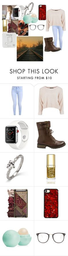 """""""Train Ride"""" by bethecaptain on Polyvore featuring Yellow Box, Dolce&Gabbana, Eos, Nasty Gal and Happy Plugs"""