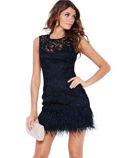 Lipsy Lace Top Skater Dress   Cocktail, midi and mini dresses