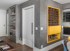 Small Apartment Design, Studio Apartment Decorating, Living Room Designs, Living Room Decor, Tiny House Bedroom, Home Wine Cellars, Yellow Interior, Master Room, Interior Exterior