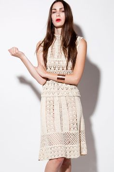 Vintage 1970s Taupe Crochet Skirt and by THRIFTEDandMODERN on Etsy, $225.00    must make