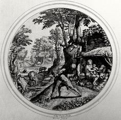 The first family. Genesis cap 3 v 23. Vos. Phillip Medhurst Collection on Flickr. A print from the Phillip Medhurst Collection at St. George's Court, Kidderminster.