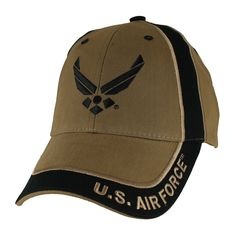 3af675ceb54 US Air Force Two Tone Coyote Brown Ball Cap