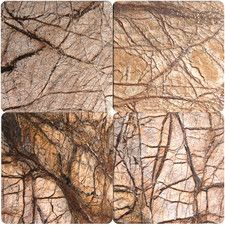 Tumbled Marble Tile in Cafe Forest