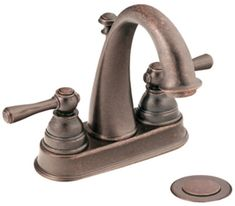 Moen 6121 Double Handle Centerset Bathroom Faucet from the Kingsley Collection ( Oil Rubbed Bronze Faucet Lavatory Double Handle