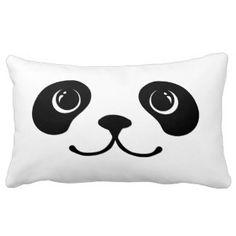 Black And White Panda Cute Animal Face Design Cushions Panda Birthday, Custom Cushions, Face Design, Animal Faces, Throw Cushions, Decorative Throws, Panda Bear, Cute Animals, Chinese