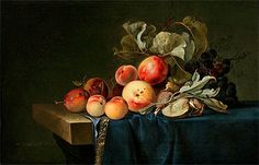 Willem van Aelst | Fruit Still Life, 1650 | Willem van Aelst | Painting Reproduction
