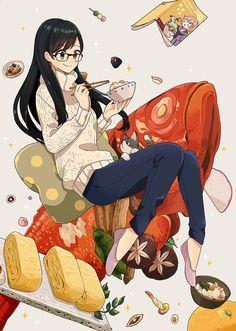 けーしん▶︎31日ティアC01a(@keisin)さん   Twitterの画像/動画 Japanese Anime Cartoons Illustrations Japanese Illustration, Illustration Art, Japanese Food Art, Alice, Anime Stars, Tumblr, Coloured Pencils, Food Illustrations, Cute Wallpapers