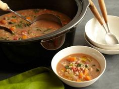 Slow Cooker Bean & Barley Soup...Looks yummy and is super healthy! Can't wait to try!