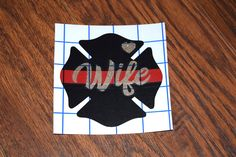 Firefighter Wife Decal, Firefighter Wife, Fire Wife, Firefighters Wife, Firemans Wife, Glitter Decal, Thin Red Line Decal, Maltese Cross by PawsitivelyCrafty on Etsy