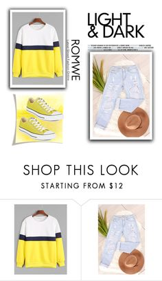 """""""Romwe"""" by loveliest-back ❤ liked on Polyvore featuring Converse"""