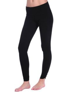 1941875458d3bb Hard Tail Womens Razor Back Rolldown Side Shirred Ankle Legging - Black -  Medium Hard Tail. $70.00