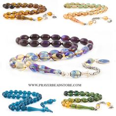 Colorful bakelite amber prayer beads (tasbih) #amber #prayerbeads #tasbih