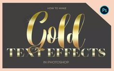 Gold Color Code: How to Make Gold Font Photoshop Effects